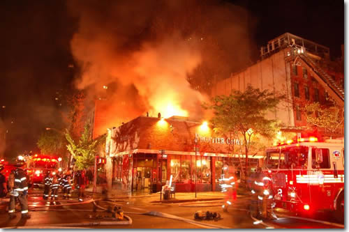 Restaurant on fire